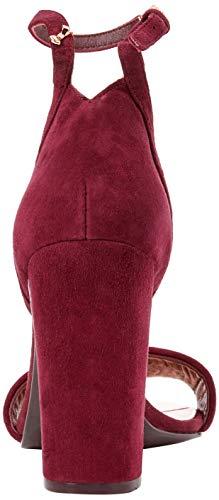 Baker Femme Bout Phanda Ouvert Burgundy Burgundy Rouge Sandales Ted vS6Hfxnqq