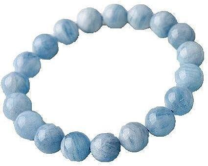 Pulsera Pulsera de Piedras Preciosas Mujer de Hielo de Pulsera de Cristal de Color Azul Piedra Preciosa en Bruto