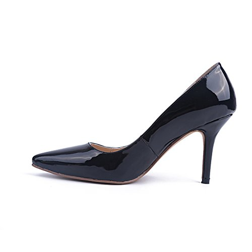 Minitoo Ladies MA04169 Slip On Fashion Occasion Wedding Party Evening Pumps Black knOGs