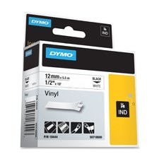 Rhinopro 1.50in White Vinyl Tape (Dymo Rhinopro Tape Cartridge)