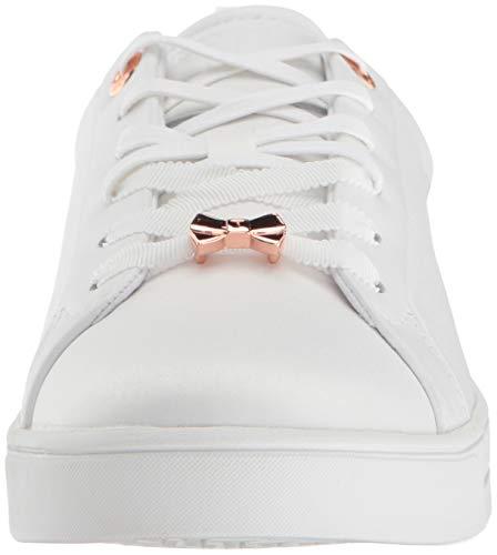 Babylon Jymina White Satin Baker Sneaker Ted Women's Ewqx8TxI