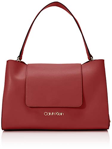 Calvin Klein ENFOLD TOP HANDLEMujerBolsos bandoleraRojo (Barn Red) 14.5x24x34 centimeters (B x H x T)