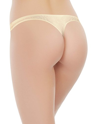 Marc and Andre S6-0391 Women's Seamless Ivory Panty Thong