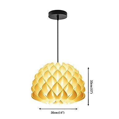 BAJIAN-LI Modern luxury A-13P DIY Kit Chandelier PP Pendant Lampshade Suspension Chandelier Light Cable and Lamp Base #16 by BAJIAN-LI (Image #3)