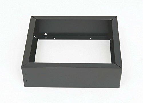 Bisley Plinth Base for Steel Under Desk Multidrawer Cabinet, Black (MDPLINTH) by Bisley