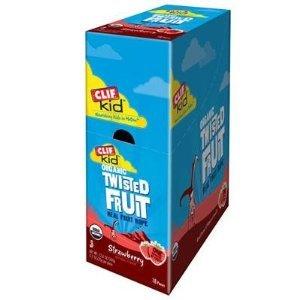 Clif Kid ZFruit Twisted Fruit - Box of 18 (Strawberry)