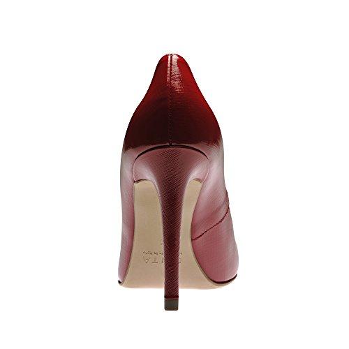 Alina Mujer Pumps lacado con relieve Rojo