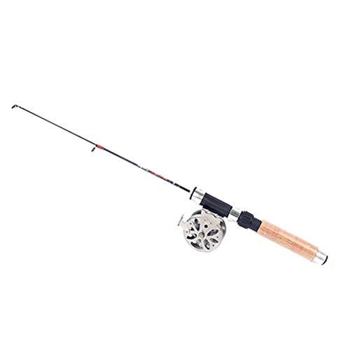 TINKSKY 60cm Telescopic Carbon Mini Ultra-Light Ice Fishing Rod Pole Fishing Tackle Tool