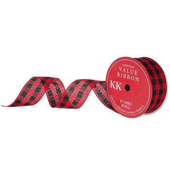 - Buffalo Check Wired Edge Ribbon - 2 1/2
