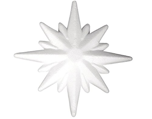 150mm Polystyrene Star Shape to Decorate | Styrofoam Shapes for Crafts