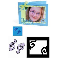 Ellison Sizzix Movers & Shapers Dies-Photo Corners Pair, Ornate ()