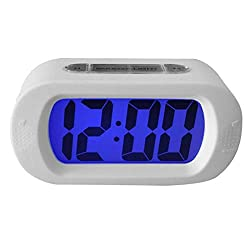 Alarm Clocks - Silicone Electronic Lcd Large Screen Silent Digital Night Light Smart Table Alarm Clock Anti Falling - Noise Round Wheels Oversized Fashioned Rose That Star Fashion Impaired