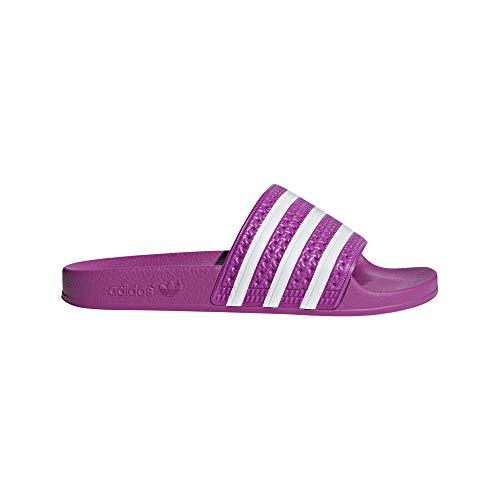 official photos a17ab 449ec adidas Originals Women s Adilette Slip-On Shoes, Vivid Pink Vivid Pink  Footwear