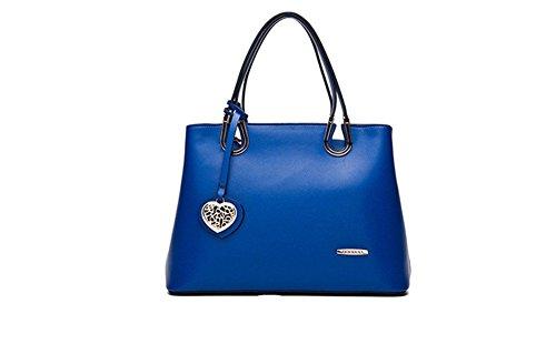 New Winter qckj Mode Cross Body Schulter Tasche Frauen Pu Handtasche blau