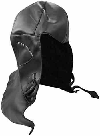 649691308daecd Deluxe Retro Black Aviator Helmet Bomber Cap Adult Steampunk Costume  Accessory