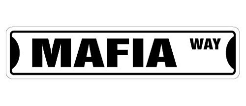 Cortan360 MAFIA Street Sign mob boss godfather italian Capone| Indoor/Outdoor | 8