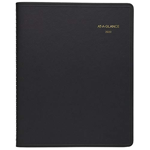 "AT-A-GLANCE 2020 Daily Planner/Appointment Book, 8-1/2"" x 11"", Large, 24 Hour, Black (7021405)"