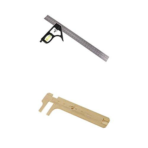 perfk 300mm 多機能 コンビネーション スクエアルーラー アキャリパー 定規 80mm