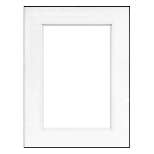 "Fineline Picture Frame Color: Black, Size: 18"" x 24"" Frame/13"" x 19"" Shadow Mat -  Framatic, F1824BD63"