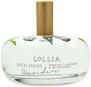 Lollia Wander Eau De Parfum | Margot Elena's Night Blooming Jasmine, Midnight Gardens, Water Lily and Wildflower Perfume, 3.3 fl oz Spray