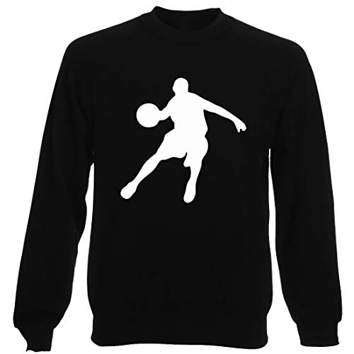 Felpa shirtshock Oldeng00394 Basketball T Girocollo Uomo Nera 0qw5Cv