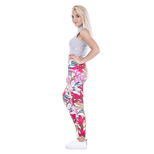 elasticizzati leggings con 3D elasticizzati da alta Lybtrouser piedini da donna donna donna Pantaloni da Zgtn0xqFw