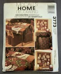 McCalls 3773 Christmas Decorating Sewing Pattern, Chair Covers, Table Runner, Mantel Cloth, Decorative Screen by McCall's