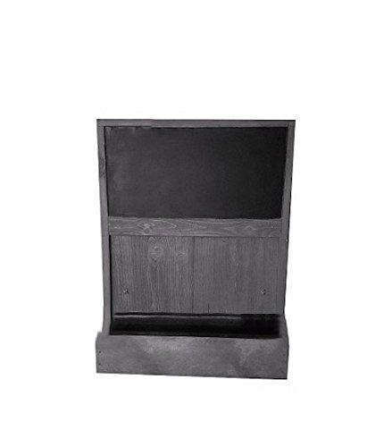 Shop Living Walls SLW-WM19CB-RG Wall Chalkboard Plant Holder Key Rack, Reclaimed Grey by Shop Living Walls