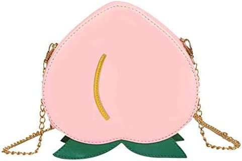 フルーツバッグ女性、かわいいショルダーメッセンジャーバッグ、ワイルドチェーンスモールバッグ、パーソナライズフルーツバッグ、ピンク、19 * 19 * 7.5 Cm 美しいファッション