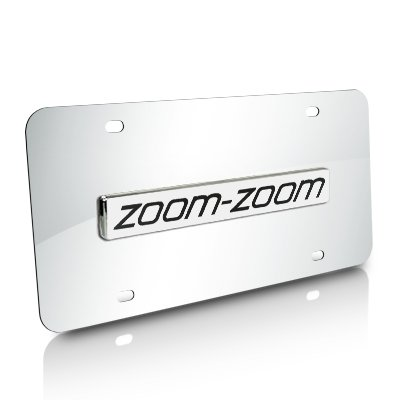 Mazda Zoom-Zoom Chrome License Plate Au-Tomotive Gold INC