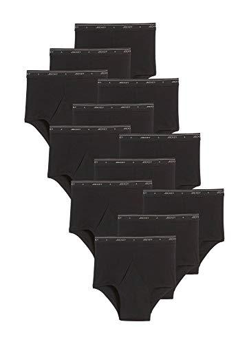 Jockey Men's Underwear Big Man Classic Brief - 12 Pack, Black, ()