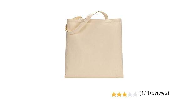 Paquete de 10 bolsas de la compra de algodón premium – respetuoso con el medio ambiente, reutilizables para la vida con asas largas natural