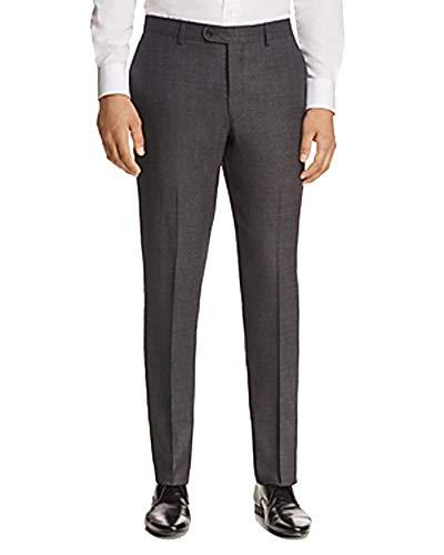 (John Varvatos Star USA Luxe Regular Fit Tic Trousers (Charcoal, 30))