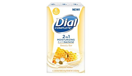 Dial Manuka Honey 2-in-1 Beauty Bar Soap - 6 Count