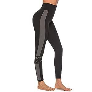 Liuzecai Pantalones de Yoga de Entrenamiento de Cintura alt ...