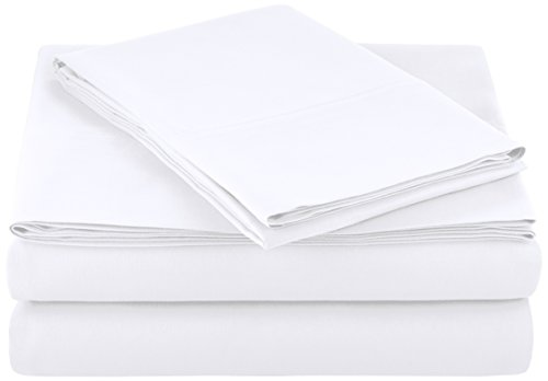 AmazonBasics Microfiber Sheet Set - Twin, Bright White ()