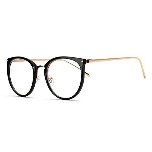 Decor Vintage Optical Frame Glasses Myopia Round Metal Men Women Unisex Glasses Oculos De Grau Glasses ()