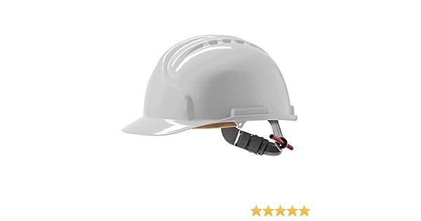 JSP AHR120-000-100 Mk7 - Casco de seguridad con trinquete deslizante, color blanco: Amazon.es: Amazon.es