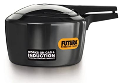 Hawkins Futura Pressure Cooker with Induction Base, 3 Litres, Black