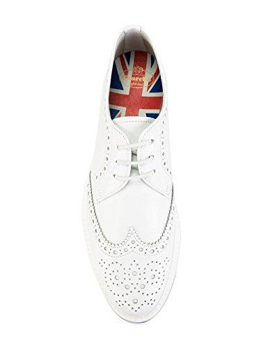Churchs Mujer DE00469SNF0ABK Blanco Cuero Zapatos De Cordones