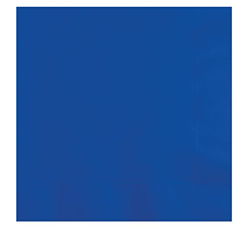 Creative Converting 663147B 50 Count Touch of Color Lunch Napkins, Cobalt (Cobalt Blue Napkins)