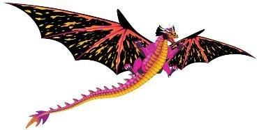WindNSun 71101 Fantasy Fliers Dragon Kite by WindNSun