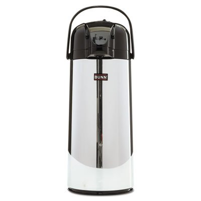 - 2.2 Liter Push Button Airpot, Stainless Steel