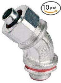 Malleable Iron Liquid Tight Conduit Fittings - Insulated Throat (45-Degree, 3/4 In. (10-Pack))