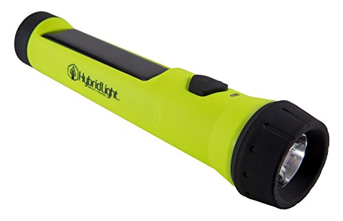 Hybridlight Entrada Solar / Rechargeable 80 Lumen Waterproof Flashlight. Solar panel charges indoors or out. Quick Charge using Included USB Cable