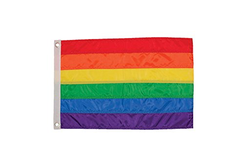 In the Breeze 12 Inch by 18 Inch Rainbow Flag - Rainbow Grom
