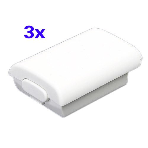 TOOGOO(R) 3X Battery Back Cover Case Shell Xbox 360 Wireless Controller White