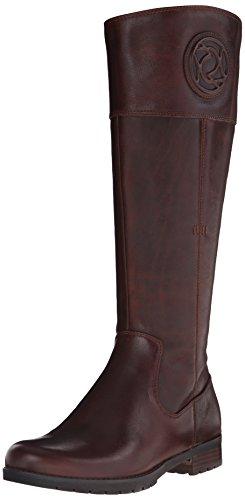 Rockport Women's Tristina Rosette Tall Boot - Wide Calf B Sugar Cas Leather WL WC Boot 8.5 M (B) (Womens Wide Calf Hunter Boots)
