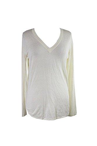 Lauren Ralph Lauren Womens Silk Hi-Low Hem V-Neck Sweater Ivory - Ralph Lauren Outlet Sale