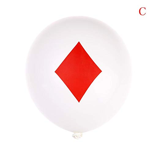 Ballons & Accessories - 10pcs Lot 12inch Spades Hearts Clubs Diamonds Latex Balloon Casino Cards Dice Poker Playing Party - Ballons Accessories Balloons